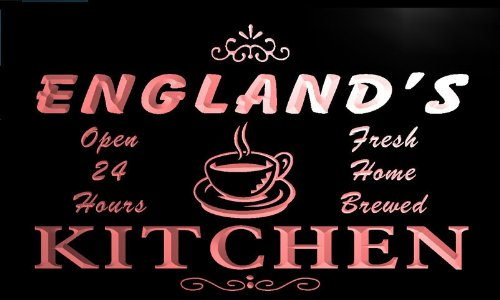 pc1960-r England's Home Kitchen Open Bar Neon Beer Sign Barlicht Neonlicht Lichtwerbung
