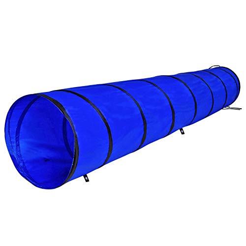dibea DT10061 Hundetunnel, Spieltunnel, Hundehöhle, Agilitytunnel blau, Größe M (300 x 50 cm), blau