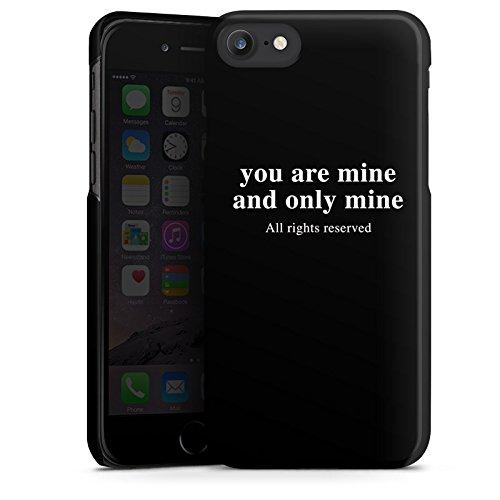 Apple iPhone X Silikon Hülle Case Schutzhülle Rights reserved Liebe Statement Hard Case schwarz