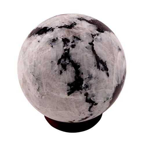Boule de cristal en héliolite, pierre naturelle polie, pour l'équilibre de l'aura, métaphysique, Pierre, Rainbow Moonstone, 60-75 MM