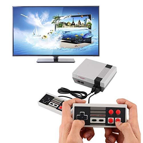 Gugutogo Klassischer Mini-TV-Spieler, mit eingebauter Spielekonsole, 620 Klassische Spiele für Kinder, Videospiele, Schwarz und Grau der EU Component-video-pal-ntsc