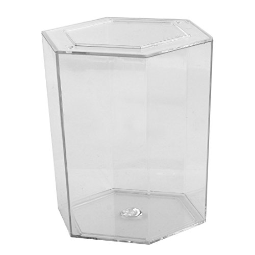 sourcingmap® Aquarium Fisch Bowl Plastik Hexagon geformte Betta Tank klar 12,2 cm Höhe - Aquarium Für Fisch Betta