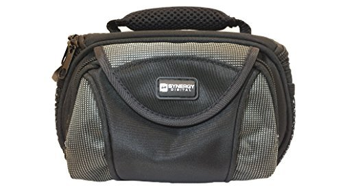 Panasonic HC-V720 Camcorder Case Camcorder and Digital Camera Case - Carry Handle & Adjustable Shoulder Strap - Black / Grey - Replacement by Synergy  available at amazon for Rs.2293
