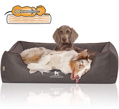 Knuffelwuff Orthopädisches Hundebett Wippo Hundekorb Hundesofa Hundekissen Hundekörbchen waschbar Schwarz grosse Hunde XXXL 155 x 105cm