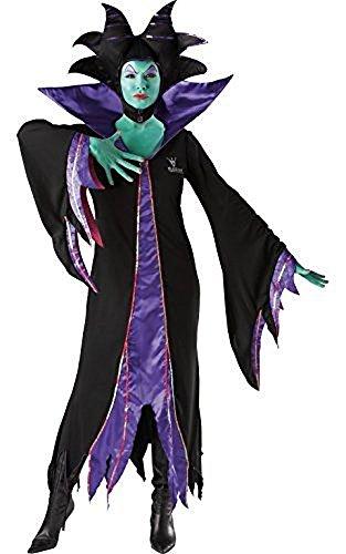 Damen Disney Maleficent Maleficent Bösewicht Böse Königin Hexe Halloween Kostüm Kleid Outfit - Schwarz, Schwarz, U - Disney Bösewichte Kostüm