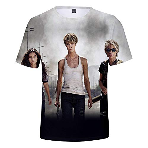 ops Mode-T-Shirts Unterhemden Kurzarm Unisex Neuheit Kostüm HD Anime Druck Terminator Dark Fate ()