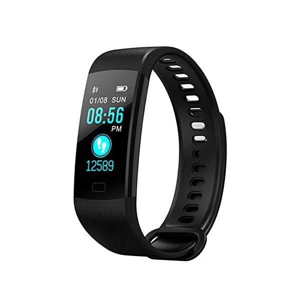 Milnnare Reloj Inteligente Presión Arterial Frecuencia cardíaca Monitor de sueño Podómetro Sports Fitness Smart Pulsera - Purple 3