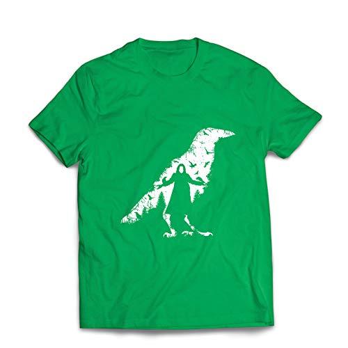 lepni.me Männer T-Shirt Die Krähe - die Toten und die verlorenen Seelen (XX-Large Grün Mehrfarben)