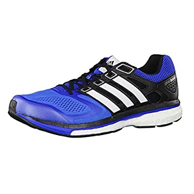 adidas Men's Supernova Glide 6 M Blue Beauty F10, Running White Ftw and Black 1 Mesh Running Shoes - 6 UK