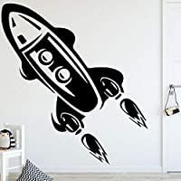 MINGKK Wall Stickers Rocket Height Vinyl Wall Sticker for Kids Livingroom Growth Chart Height Measure for Children Removable PVC Wall Decals Poster 58X64cm