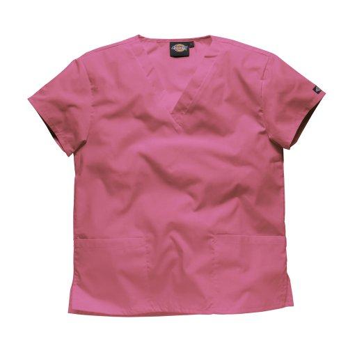 Hemd Pink Bekleidung (DICKIES WORKWEAR Schlupfhemd Medizin 2 Taschen mit V-Ausschnitt M Pink)