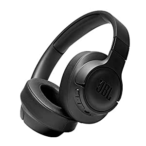 JBL Tune 750BTNC, Over Ear Active Noise Cancellation Headphones with Mic, 40mm Dynamic Drivers, JBL Pure Bass, Dual Pairing, AUX & Voice Assistant Support for Mobile Phones (Black)