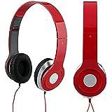 Ecloud Shop Casque Ecouteur Réglable Stéréo Audio Pr DJ PSP MP3 MP4 PC Rouge