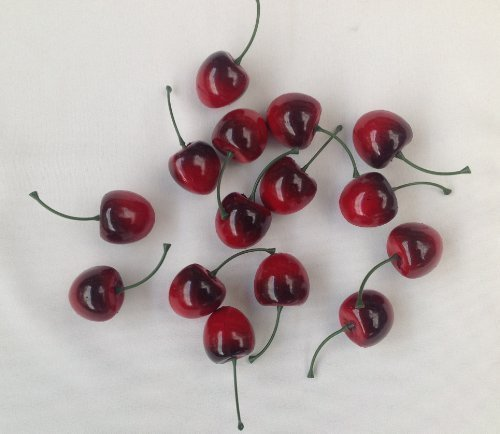 Deko Obst 15 Stück Kirschen Kunstobst Kunstgemüse künstliches Obst Gemüse Dekoration (Obst-dekoration)