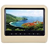 from Earme EARME Universal Car Headrest DVD Player 800 x 480 LCD Screen Backseat Monitorwhite