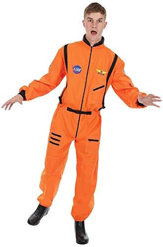 (Herren Orange Astronauten Raumfahrer Raum NASA Verkleidung Kostüm Extra Large)