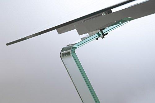 Tavolo allungabile in cristallo design soggiorno salotto for Tavolo vetro allungabile amazon