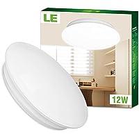 LE Plafoniere a LED 12W Pari Fluorescenti da 22W, 950lm 3000K bianca calda