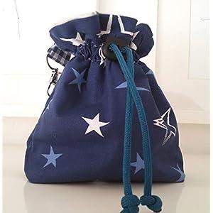 Futtertasche Futterbeutel Leckerlibeutel blau Sterne Handarbeit Handmade