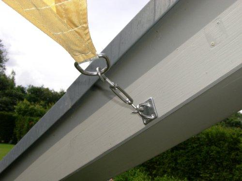 Tenda A Vela Quadrata : Jarolift tenda a vela quadrata idrorepellente cm antracite