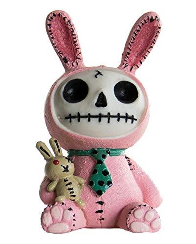 Horror-Shop Kleine Pink Bun Bun Furrybones Figur Hase - die Geschenkidee für Gothic Fans
