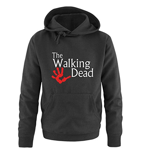 Comedy Shirts - The Walking Dead Hand - Herren Hoodie - Schwarz / Weiss-Rot Gr. M (Walking-frankreich)