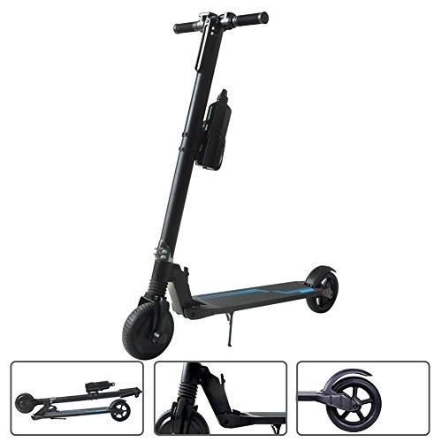 SJF Electric Scooter - Faltbarer tragbarer E-Scooter mit erweitertem Konfigurieren, elektronischer Bremse und faltbarer Lenker für Teenager & Erwachsene mit LG Akku