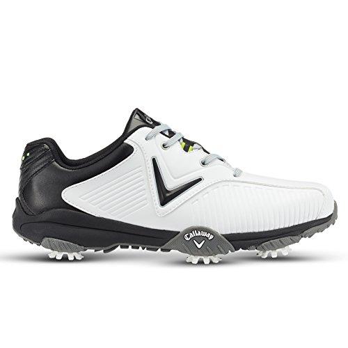 Callaway Chev Mulligan, Chaussures de Golf Homme, Blanc (Blanc/Noir), 42 EU