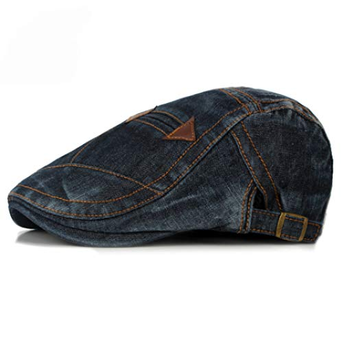 ng Sommer Jeans Baskenmütze für Männer Frauen Casual Unisex Denim Baskenmütze Cap ausgestattet Sun Ivy Flat Cap ()