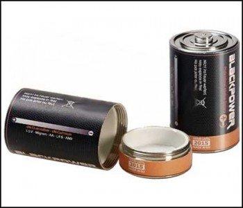 Mono Zelle Attrappe Geld Versteck Batterie - Blackpower