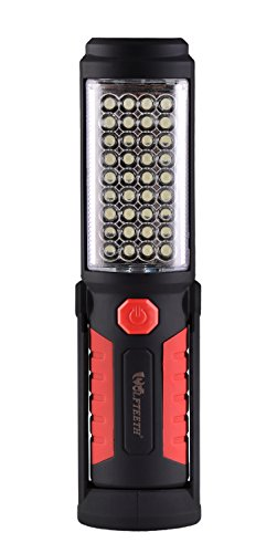 Wolfteeth 36+5 LED Torch Inspection Lamp Camping Light ,Hands-Free Garage Workshop Flashlight for Auto,Emergencies with Adjusting Stand, Hanging Hook and Magnet Base