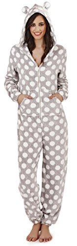 WOMENS FAIRISLE ONESIE FULL LENGTH FLEECE ONESIES HOODED ALL IN ONE JUMPSUIT BATHROBE PYJAMAS GIRLS LADIES - 41yc5sddSYL - WOMENS FAIRISLE ONESIE FULL LENGTH FLEECE ONESIES HOODED ALL IN ONE JUMPSUIT BATHROBE PYJAMAS GIRLS LADIES