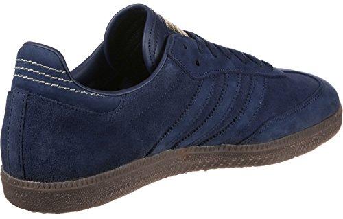 adidas Samba FB, Baskets Homme Bleu (Dark Blue/dark Blue/gold Met.)