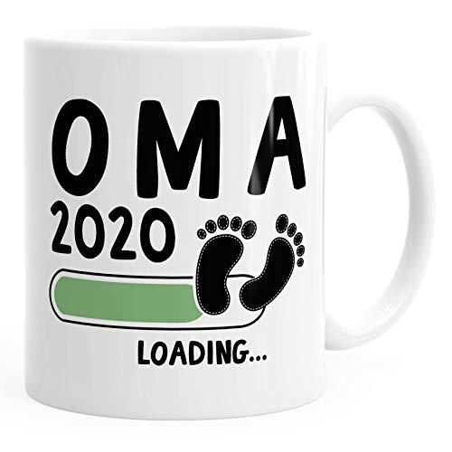 Kaffee-Tasse Oma 2020 loading Geschenk-Tasse für werdende Oma Schwangerschaft Geburt Baby MoonWorks® weiß unisize