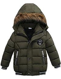 Oyedens Jungen Winterjacke mit Kapuze Jacken Blouson Kinder Kapuzenparka  Warm Daunenjacken Blouson Wintermantel 1c4afe115f