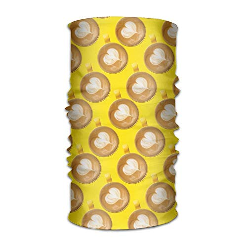 Wfispiy Latte Coffee Women&Men Neck Gaiter Magic Headwear Headband Face Bandana Mask Sport Scarf Neckwarmer Headwrap 12 In 1 Multi Function Block China Black Pearl