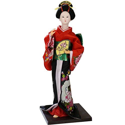 """Chinashow 12\"""" Traditionelle Japanische Schöne Kimono Geisha Puppe Orientalische Puppe Maiko Puppe Beste Geschenke A14"""