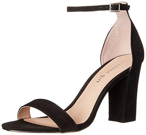Madden Girl Women s Beella Dress Sandal Black Fabric 7 B(M) US