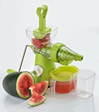P V SALES Unbreakable Wheat Grass Vegetable and Fruit Juicer, Multicolour