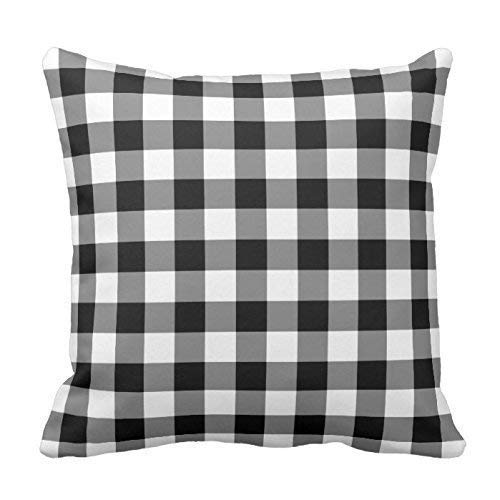 Pillowcases Personalized Throw 18x 18Black and White Gingham Pattern Pillow Cover r Turquoise Pillow Cases Gingham Wedges