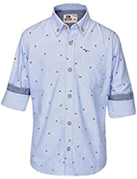 Flying Machine Boys Collared Printed Shirt