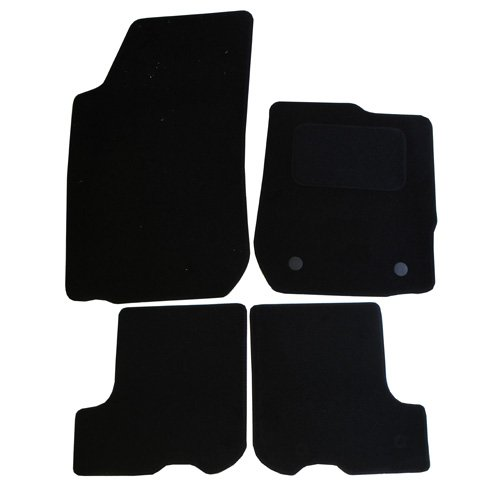 4 Pieces Black JVL Fully Tailored Car Mats with 3 Clips