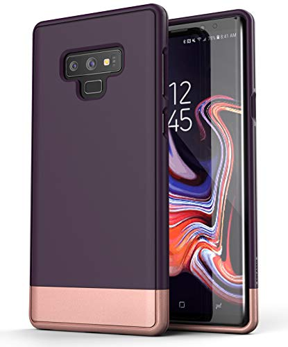 Encased Purple/Rose Gold Peacock for Galaxy Note 9 Phone, Slim Protective Phone Eradicate for Samsung Note 9 (Slimshield RS2/S9) Ultra Underfed Fit Delineate