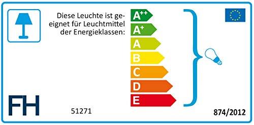 Fischer Metall Chromfarben, Stoffschirm Grau