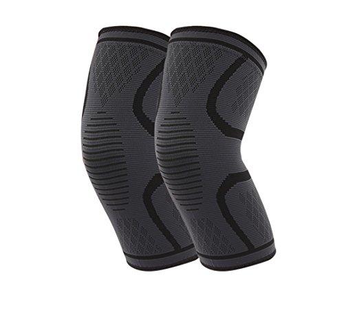 oliked Kniebandage, Knieschoner, Premium Kniekompresse für Männer und Frauen ( 1Paar , unter Hosen möglich) (Kniebandagen Knie Bandage)