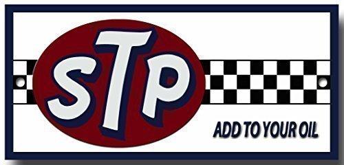 Plaque métal garage de qualité 'STP add to your oil' pas cher