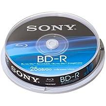 Sony 10BNR25SP - Paquete de 10 discos Blu-ray grabables 25 GB
