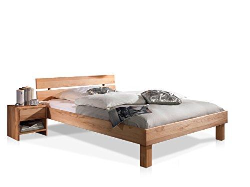 CARIA Doppelbett/Massivholzbett, 180 x 200, Kernbuche