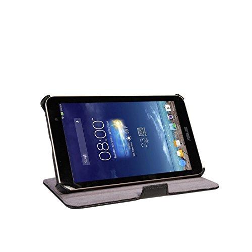 eFabrik Hülle für Asus MeMO Pad HD 7 (ME176C ME176CX) Cover Schutz Tasche Hülle, Sleep- Wake UP mit Aufstellfunktion hochwertiges Kunstleder, schwarz