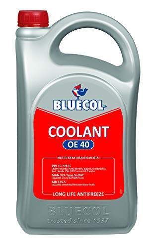 Bluecol - Textile chain Cooler Frost protection concentrate Red 5 liters - oe40